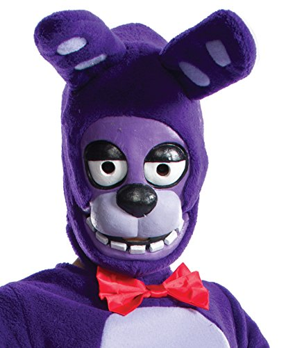 Rubie's Costume Boys Five Nights at Freddy's Bonnie The Rabbit 3/4 Mask Costume, One ()