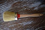 Chalkology Artisan Series - Oval Chalk Paint Waxing Brush, Large, Professional Brush, Pure Bristle, Varnished Wood Handle