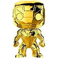 Funko Pop Marvel: Marvel Studios 10 - Iron Man (Gold Chrome) Collectible Figure, Multicolor