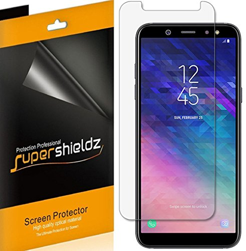 (6 Pack) Supershieldz for Samsung Galaxy A6 (2018) Screen Protector, High Definition Clear Shield (PET)