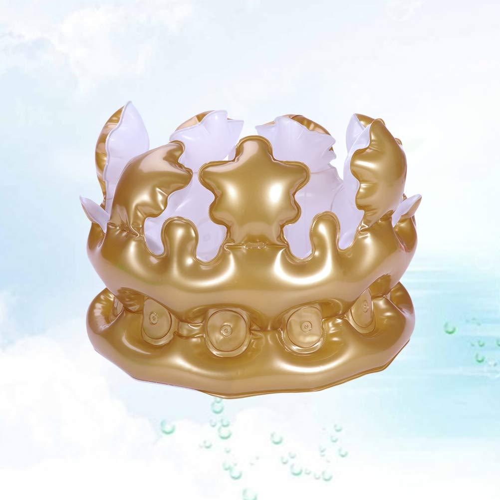 LUOEM 4 Unids 20 cm Corona Inflable Cumpleaños Sombreros ...