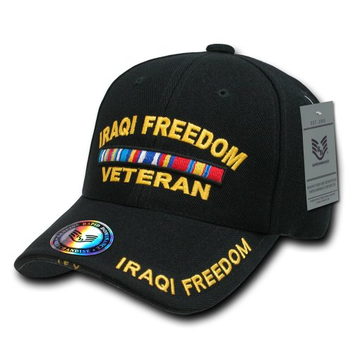 Rapiddominance DeLuxe Military Cap, Iraqi Free Vet/Black