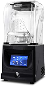 Professional Blender Countertop Blender Food Mixer With Shield Quiet Sound Enclosure Commercial Strong and Quiet High Power 1800W Smoothie Maker 1.2L for Smoothies Crushing Ice Frozen Dessert Fruit (1.2L)