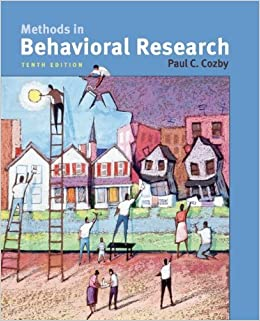 Book Methods in Behavioral Research by Paul Cozby (2008-11-12)