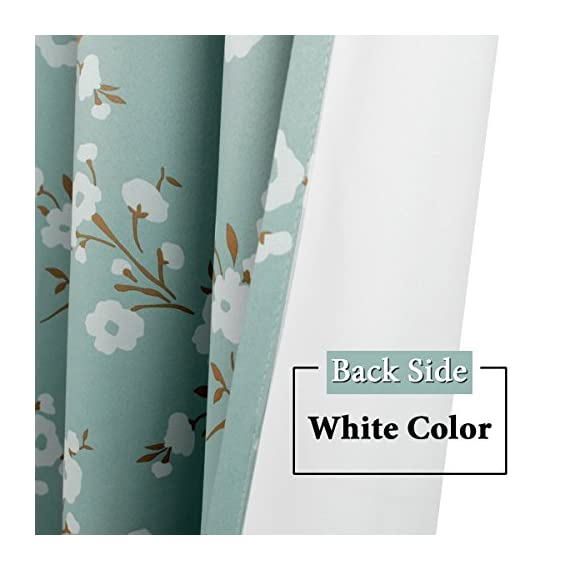 H.VERSAILTEX Ultra Soft Microfiber Living Room Curtain Noise Reducing Thermal Insulated Nickel Grommet Top Blackout Window Panel Drapes (Extra Long 1 Panel, 52 x 96 Inch, Traditional Aqua Floral) - HYPOALLERGENIC MATERIAL: Crafted from microfiber fabric, soft, silky and smooth, skin-friendly, formaldehyde vinyl free, add the peaceful environment, you will definitely enjoy sweet dreams NATURAL BLACKOUT: This magic lovely individually sold curtain panels is thick enough and constructed with interwoven thermal technology, no chemical coating, while still can block out 90% sun light and prevent 100% UV ray SMART FUNCTION: These charming decorative energy-saving window treatments are functional and fashionable, have high features on thermal insulated, room darkening, energy efficient, noise reducing and privacy adding - living-room-soft-furnishings, living-room, draperies-curtains-shades - 51YzLX94FqL. SS570  -
