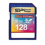 Silicon Power SDXC R85MB/s C10 UHS-1 Elite Memory Card, 128GB (SP128GBSDXAU1V10NE)