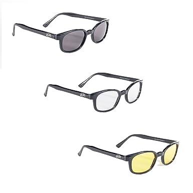 ce01fe87c Amazon.com: Pacific Cost Original X-KD's Biker Sunglasses 3-Pack ...
