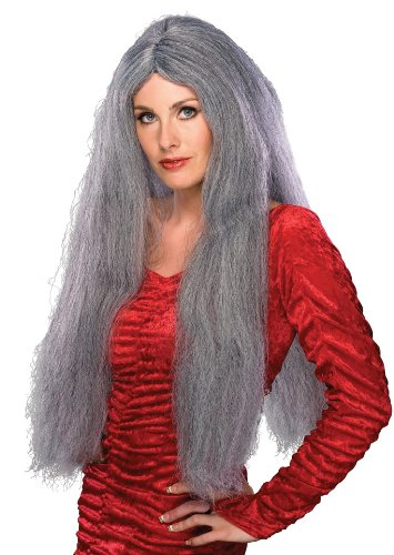 Old Lady Hair Costume (Rubie's Costume Extra Long Character Wig, Grey, One Size)