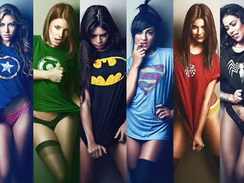 [DV1000 Hot Girls Superhero T-Shirts Sexy Babes 32x24 Print POSTER] (Hot Superhero Girls)