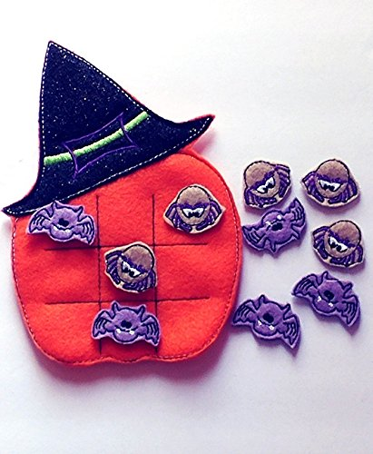 Witch hat Tic Tac Toe game - Halloween party favors (Halloween Daycare Party Ideas)