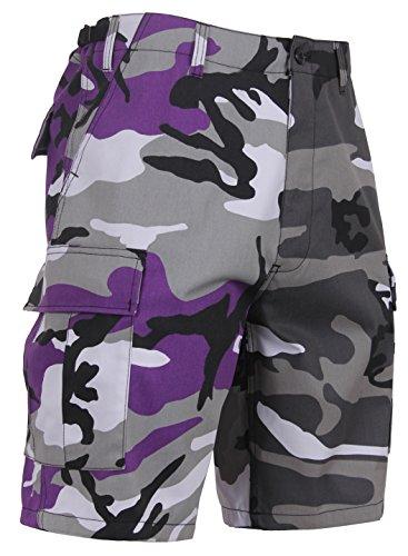 Go Commando Camo - Rothco Two-Tone Camo BDU Short, Ultra Violet Purple/City Camo, XL