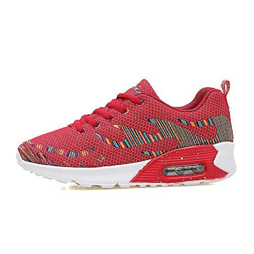 Jd8010hongse39 Enllerviid Donna Mesh Air Max Sport Scarpe Da Corsa Moda Walking Sneakers Rosso 7 B (m) Us