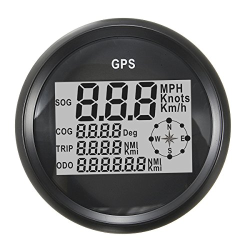 Viviance GPS Speedometer Waterproof Digital Odometer Gauge Black For Vehicle: