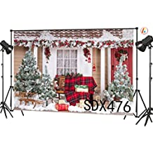 LB 7X5ft Christmas Gifts Photography Backdrop Tree Decorative Vinyl Customized Party Banner Photo Background Studio Prop SDX476