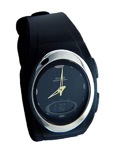 Casio Hombre Reloj de Pulsera analógico Digital Cuarzo Caucho AQ de E10 - 1e2: Amazon.es: Relojes