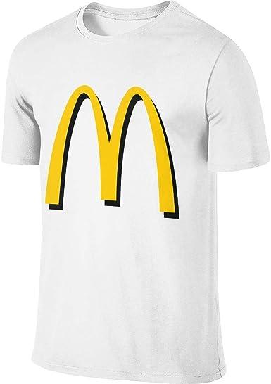 Camiseta de manga corta con logo McDonalds para hombre de manga corta y cuello redondo de algodón, Estampado., Niños, color blanco, tamaño 5X-Large: Amazon.es: Ropa y accesorios