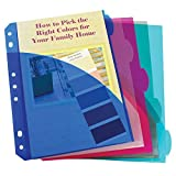 C-Line CLI03750BN Mini 5 Tab 5-Pack Poly Index Pocket Dividers, 12 Packs/CT