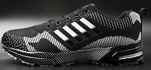 Running Sneaker Men's Fashion Shoes Women's Tennis Outdoor Shoes Black Walking Jogging Athletic JiYe v1wOw