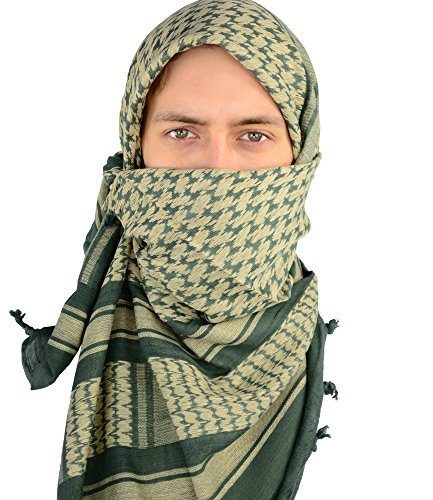Mato & Hash Military Shemagh Tactical 100% Cotton Scarf Head Wrap - Foliage CA2100 - 2