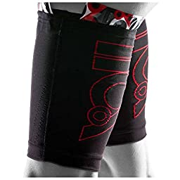 110% Play Harder Compression Kick Back Quad Sleeve (SINGLE) + ICE for Hamstrings Quadriceps (X-Large/5)