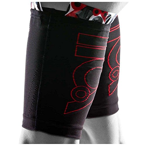 2 Side Quad (110% Play Harder Compression Kick Back Quad Sleeve (SINGLE) + ICE for Hamstrings Quadriceps (Small/2))