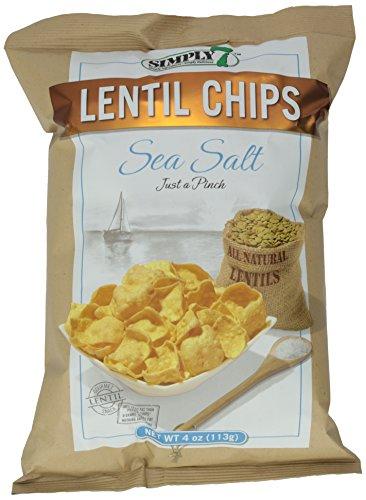 Simply 7 Chip Lentil Sea Salt, 4 oz by Simply 7