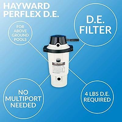 Hayward W3EC40AC Perflex D.E. Pool Filter : Garden & Outdoor