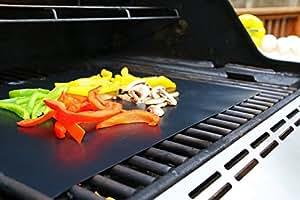 Juego de 3 láminas Sujeo de gran calidad para barbacoas de gas, carbón o eléctricas, para asar a la parrilla chuletas, hamburguesas, perritos calientes, verduras, cocina en interior o exteriores, láminas seguras para los niños