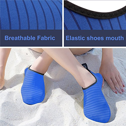 and Aqua Womens Yoga Socks Shoes Surf JIASUQI Mens Beach Summer Stripe for Water Blue Exercise Outdoor Swim gpx0d