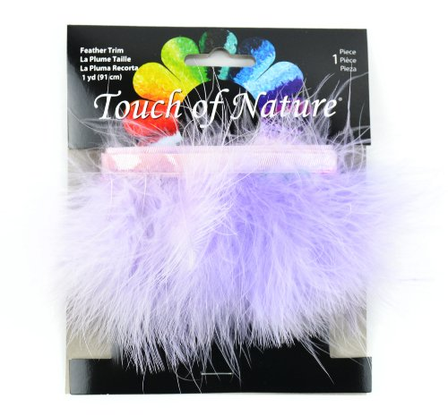 Touch of Nature 40509 Fluffy Trim 36-Inch, Lavender