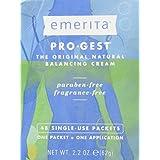 Pro-Gest Cream (Paraben Free) by Emerita (Pro-Gest) - 48 Packets, 2.2 oz