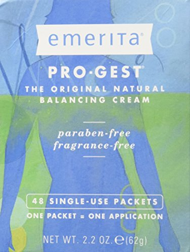 Pro-Gest Cream (Paraben Free) by Emerita (Pro-Gest) - 48 Packets, 2.2 (Progesterone Cream Pump)