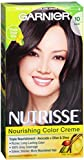 Garnier Nutrisse Haircolor Creme, Black [10] 1 ea (Pack of 3)