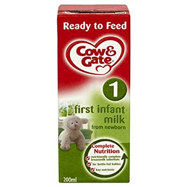 Cow Gate Ready To Feed First Infant Milk From Newborn 200ml Pack