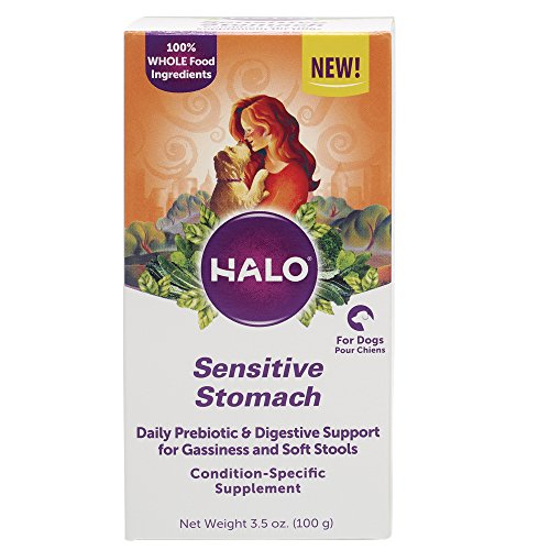 Halo Natural Supplements With Prebiotics For Dogs, Sensitive Stomach, 3.5-Ounce Bottle