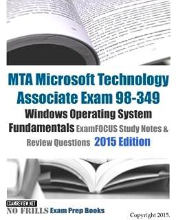 Windows operating system fundamentals mta 98-349 pdf