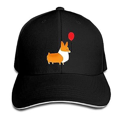 SMZYSM Ballon Pembroke Corgi Dog Unisex Sandwich Caps Cartoon Snapback Hats Casual Trucker Hats Graphic Snapback Cap