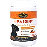 Advanced Glucosamine for dogs with Organic Turmeric, MSM, Chondroitin, Hip and Joint Supplement, Natural Anti-Inflammatory, Arthritis Pain Relief, Helps Mobility & Hip Dysplasia, 120 soft chew treats