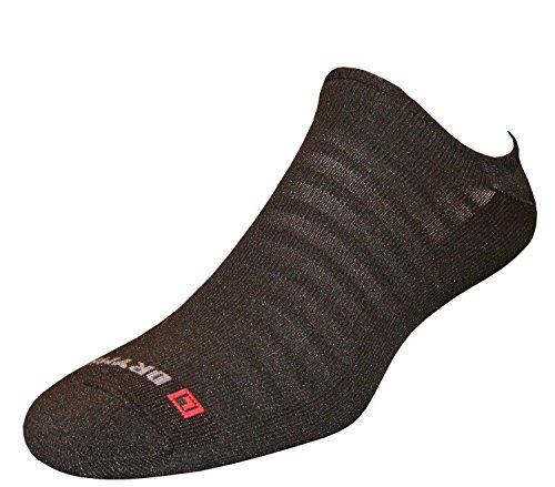 n No Show Socks, Black, Medium (W7.5-9.5 / M6-8) (W7.5-9.5 / M6-8) (Drymax Running Socks)