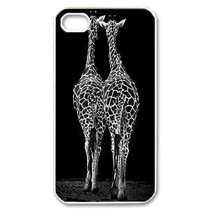 [MEIYING DIY CASE] For Iphone 4 4S case cover -Animal Giraffe Artwork-IKAI0448301