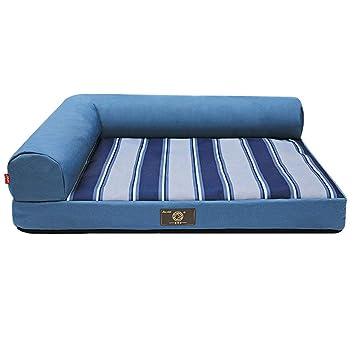 Ropa de cama para perros mascotas Cojín Sofá Calentador Espuma de memoria Perrera Impermeable - Mediano