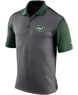 5f290ea3e2a Nike Mens New York Jets NFL Preseason Polo Shirt 656698-021 Anthracite Green