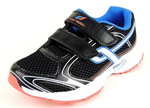 Pro Touch - Zapatillas de running de material sintético para niño negro negro negro - black/white/blue/orange