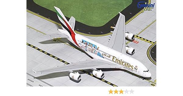 GeminiJets GJUAE1788 Emirates A380 A6-Eew Expo 2020 1 White 400 Scale Diecast Model Airplane
