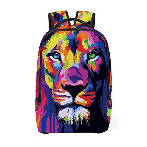 SUPPION Women Men 3D Galaxy Travel Satchel Backpack /Rucksack/ Shoulder - Bag Man D&g