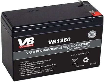 12V 7AH Version B/&B Battery BP8-12 Replacement by VICI Battery Brand