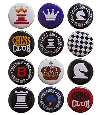 Chess Player Gift Set 12 Button Assortment Lapel Pin