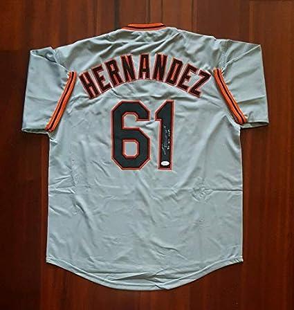 buy online 54748 06f59 Livan Hernandez Autographed Signed Jersey San Francisco ...