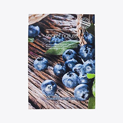 [Secret Nature] Anti-Aging Facial NATURAL COTTON ESSENCE Mask Sheet Jeju Complex (Blueberry(Anti-Aging) 5ea)