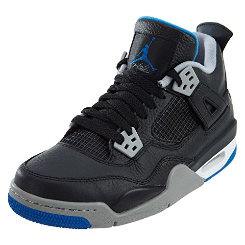 Nike Boys Air Jordan 4 Retro BG Basketball Shoes Black 5 Medium (D) Big Kid
